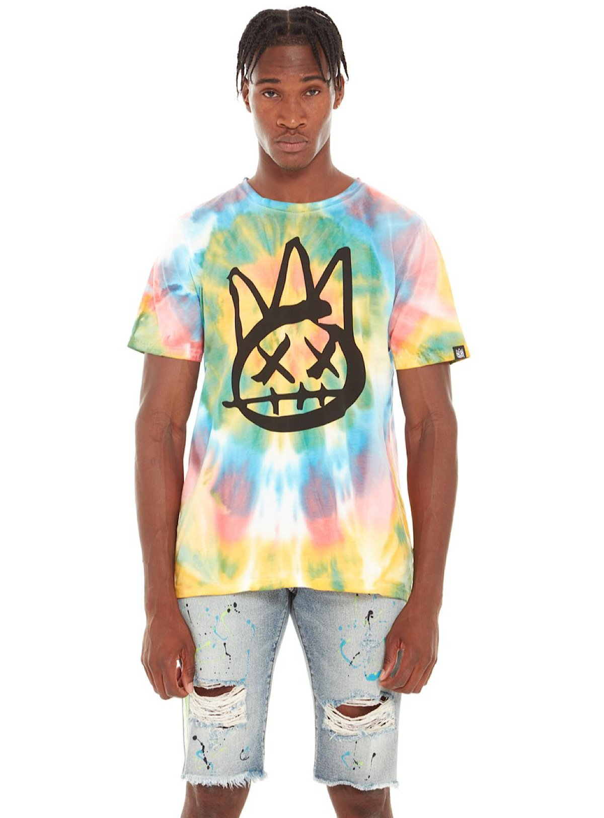 Cult Of Individuality T-Shirt - Shimuchan - Tie Dye Multi - 620A5-VK95A