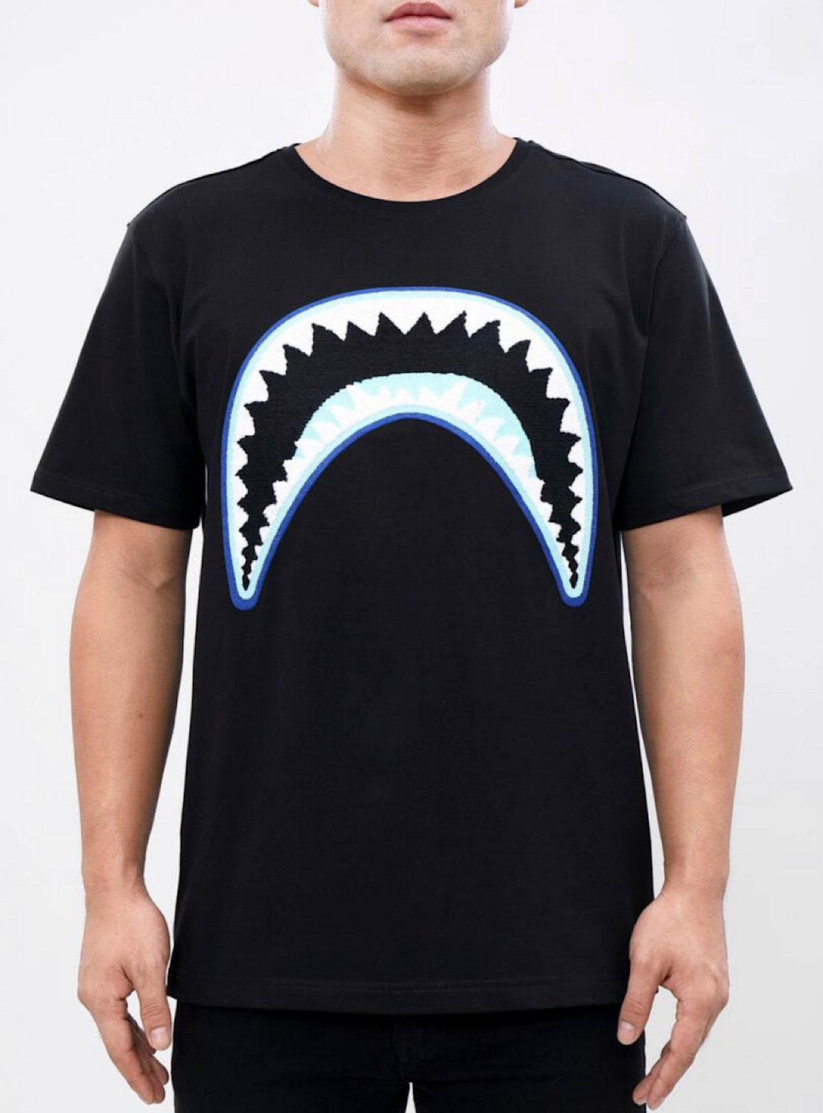 Eternity T-Shirt - Shark Mouth - Black And Blue - E1133198