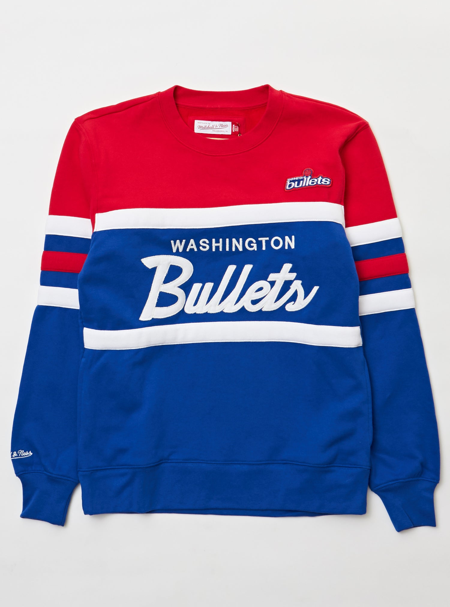 Mitchell & Ness Sweater - Head Coach Crew - Bullets - Royal
