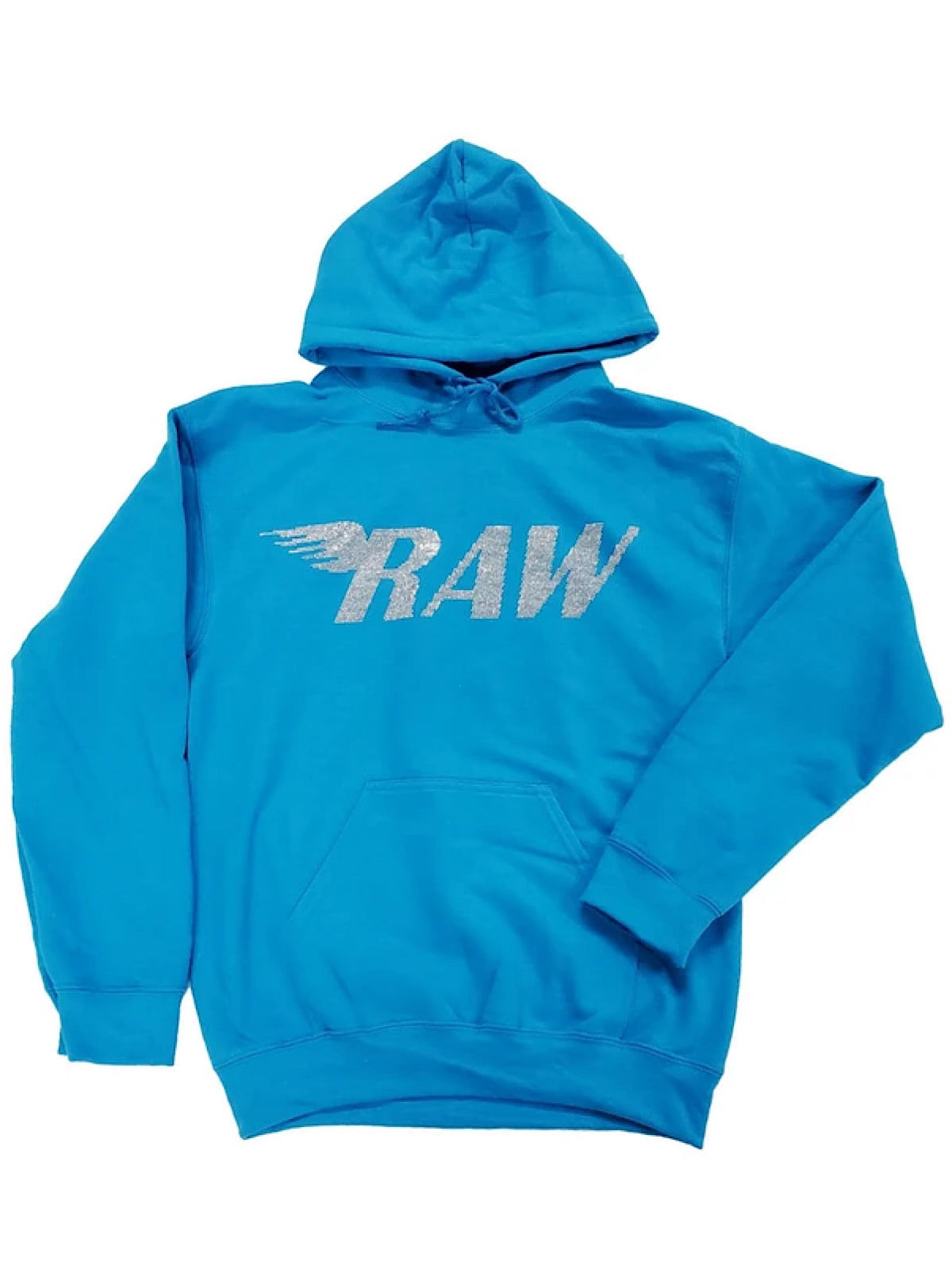 Rawyalty Hoodie - Raw Stones - Sky Blue And Silver