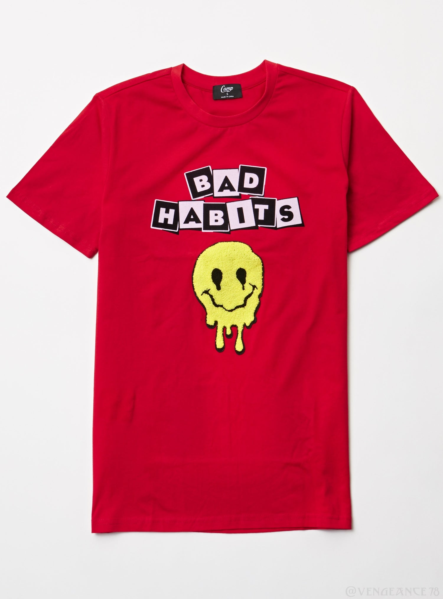 Camp T-Shirt - Bad Habits - Red