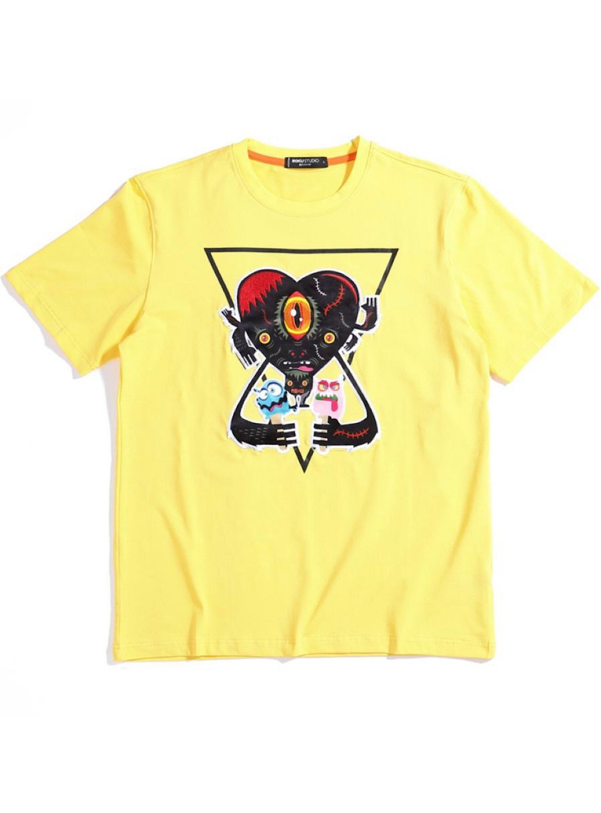Roku Studio T-Shirt - Heart - Yellow - RK1480001
