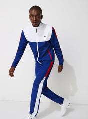 Lacoste Tracksuit - ColorBlocked - White With White And Red - WH2104