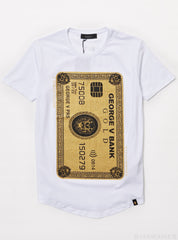 George V T-Shirt - Credit Card - White And Gold - GB-2003