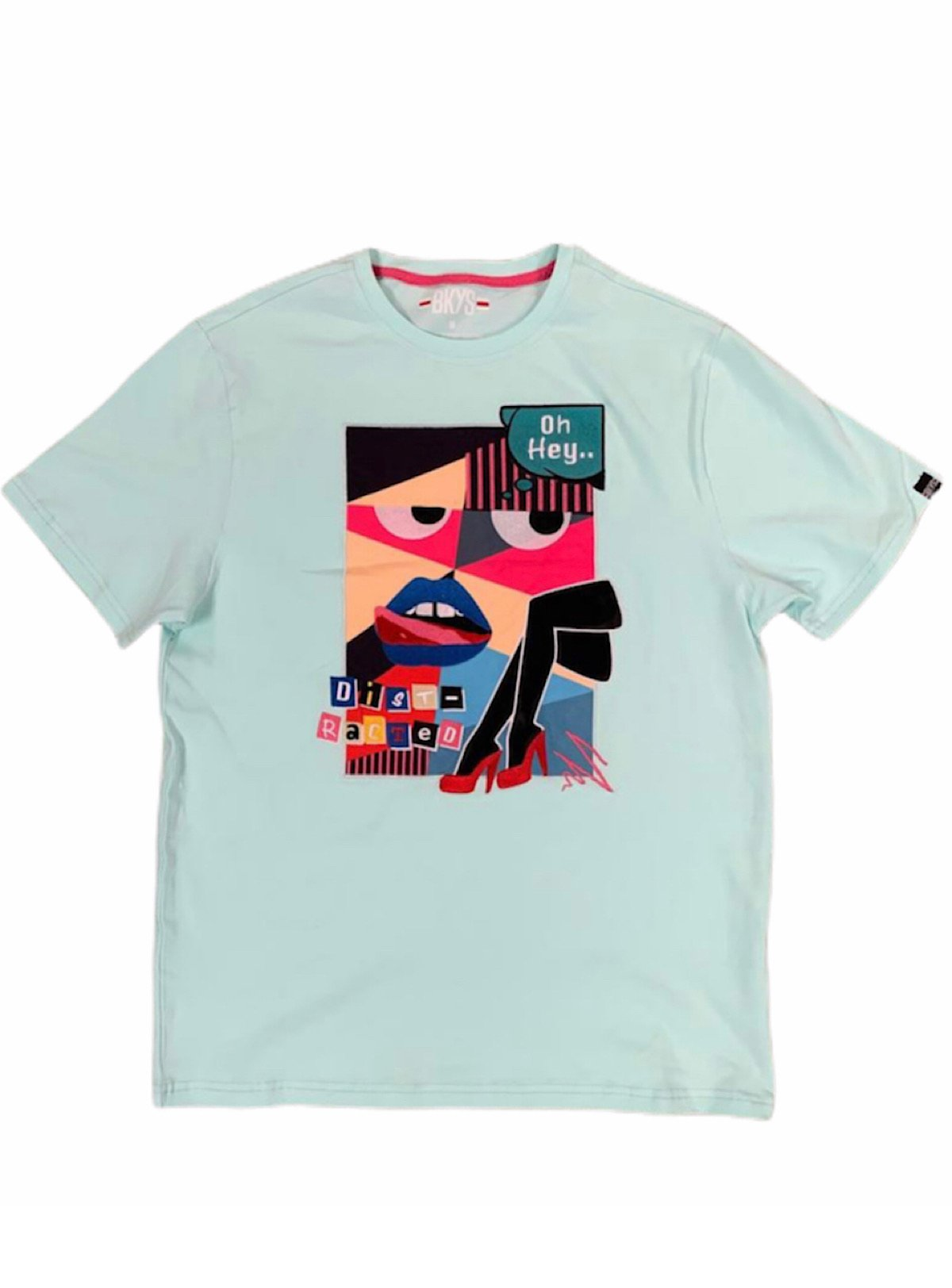 Bkys T-Shirt - Distracted - Teal - T125