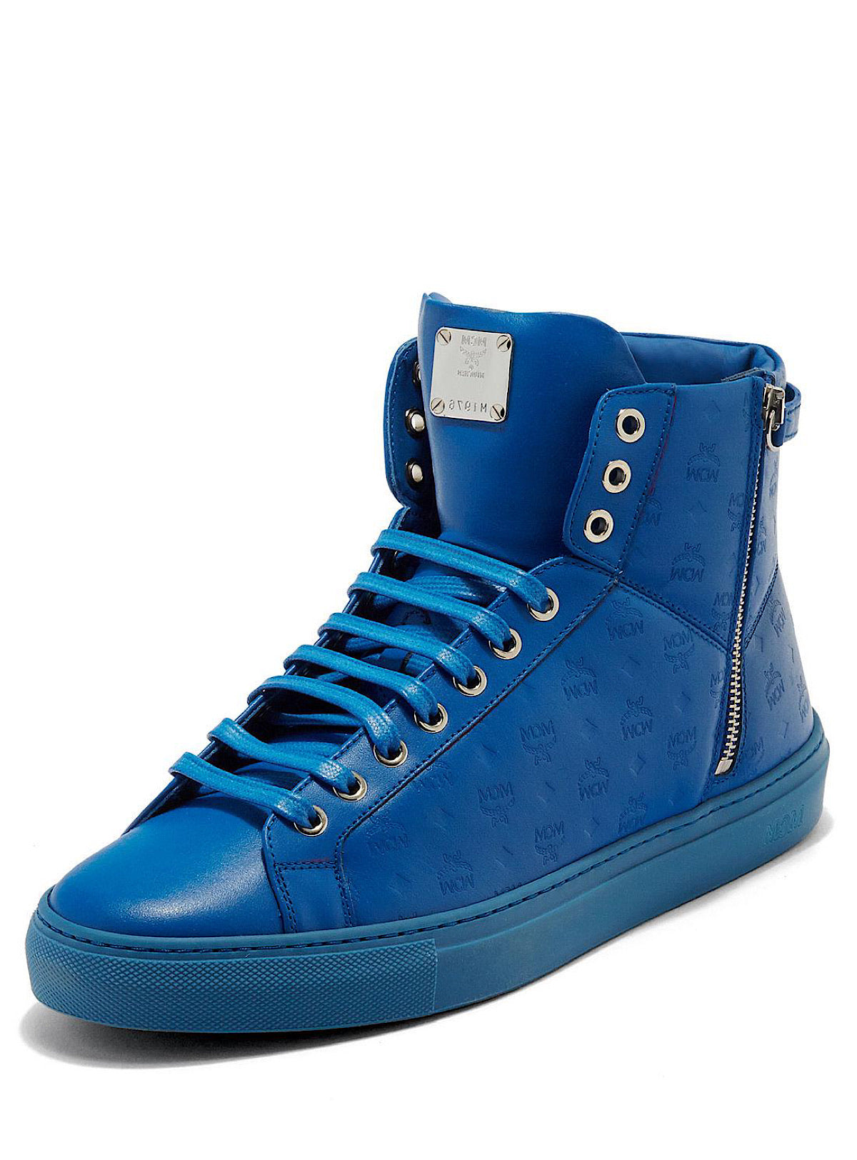 MCM Shoes - Visetos High Top - Royal Blue