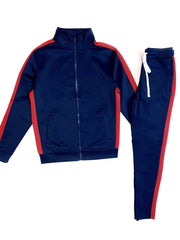 Rebel Minds Track Suit - Navy And Red - 100-501