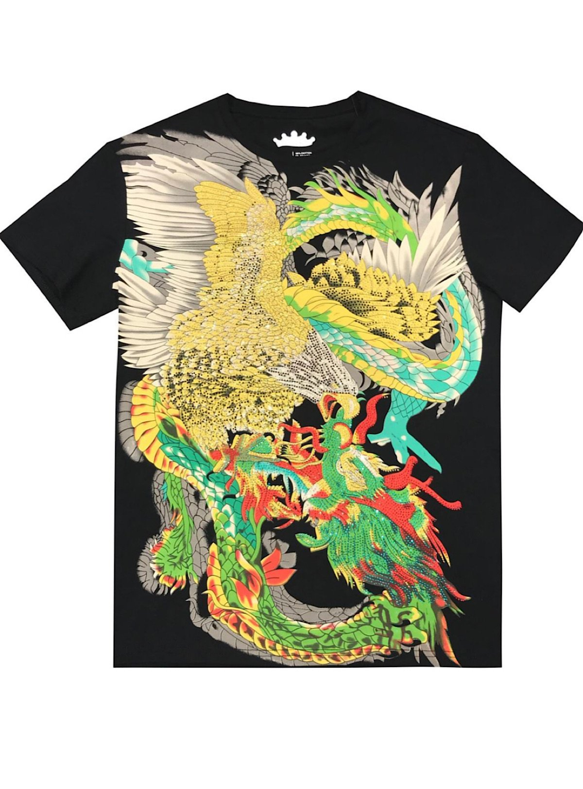 Heads Or Tails T-Shirt - Dragon - Black - 29129
