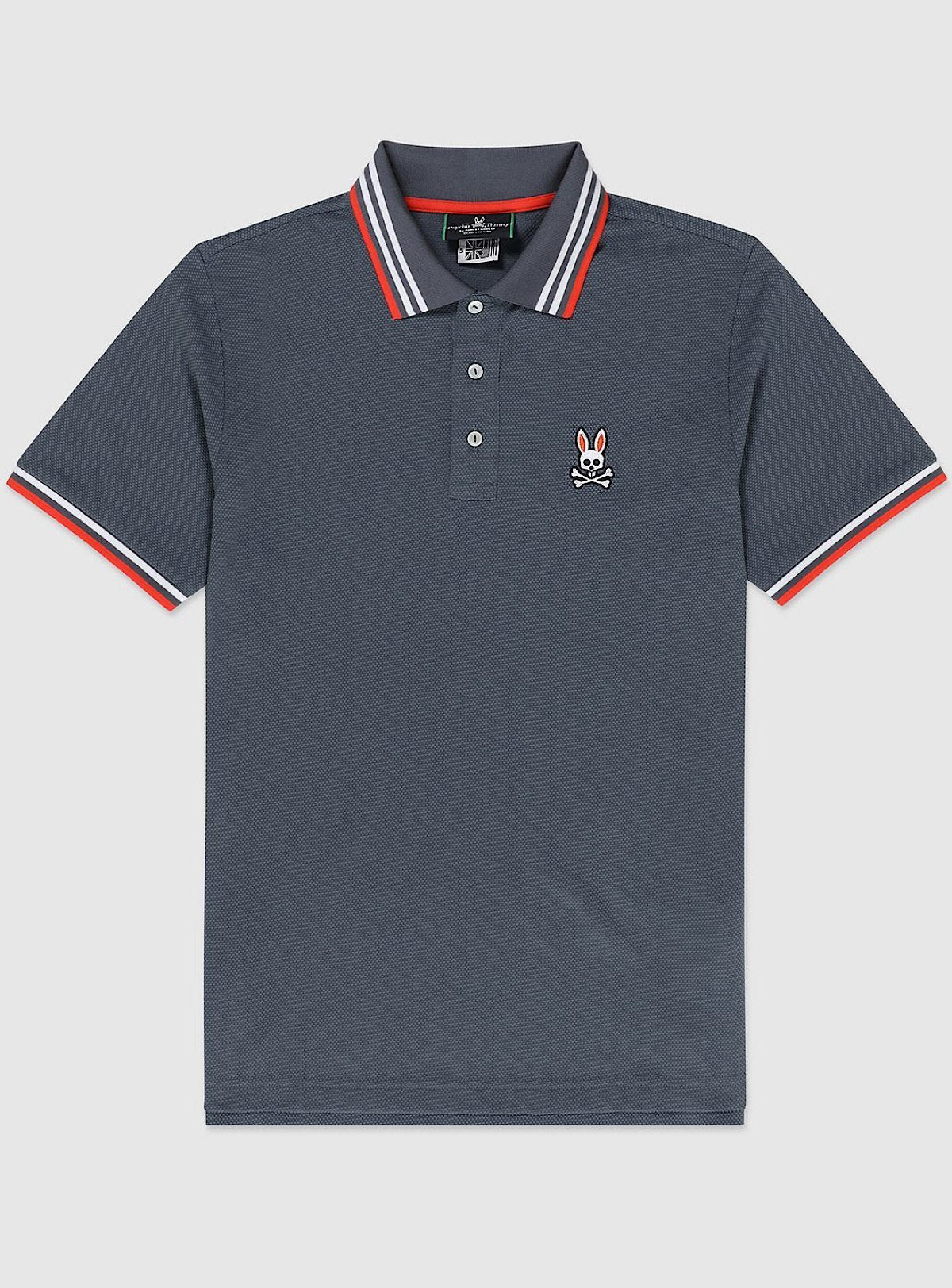 Psycho Bunny T-Shirt - Woburn Polo - Normandy Grey - B6K840J1PB