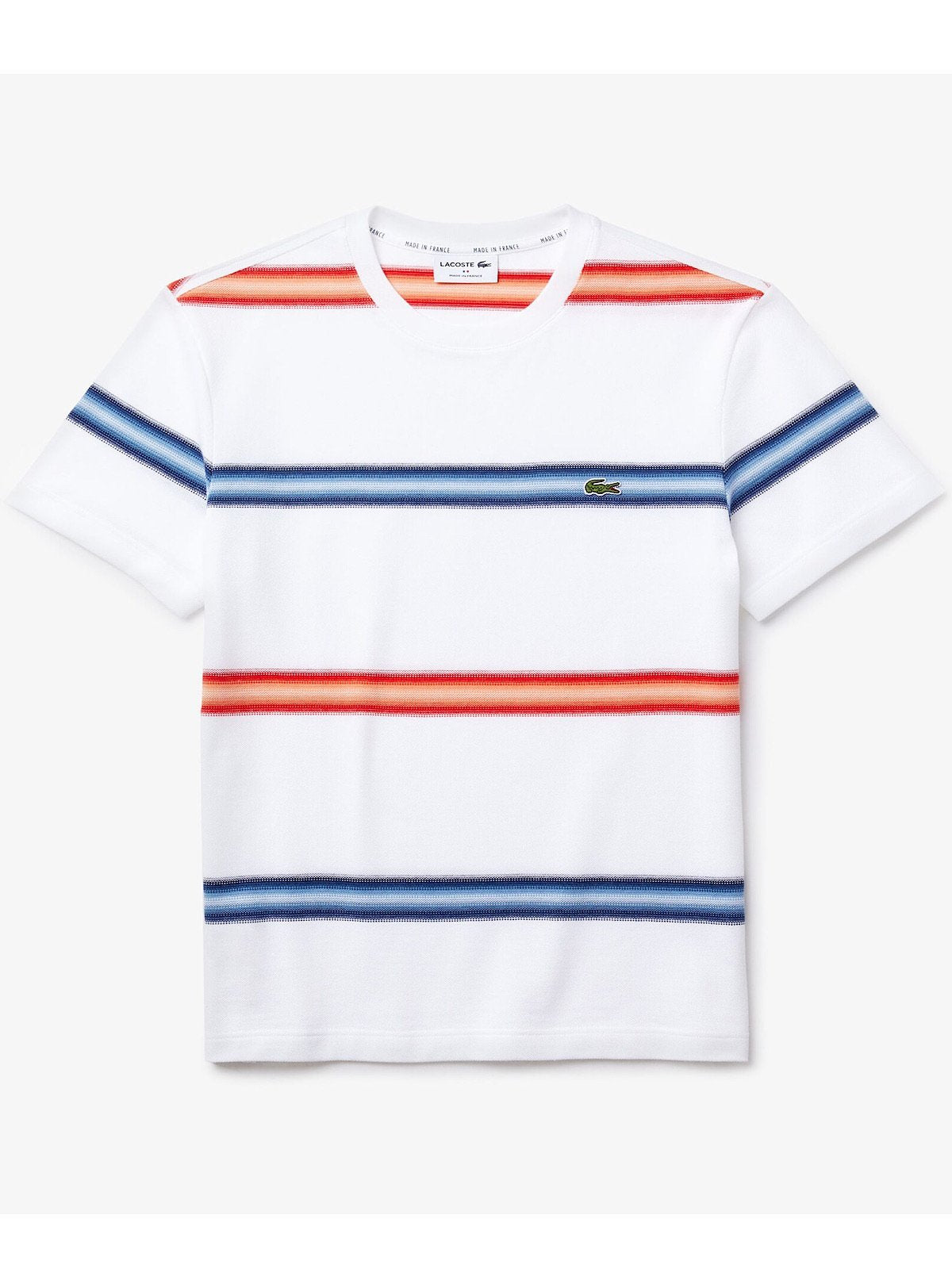 Lacoste T-Shirt - Striped - White - TH5065