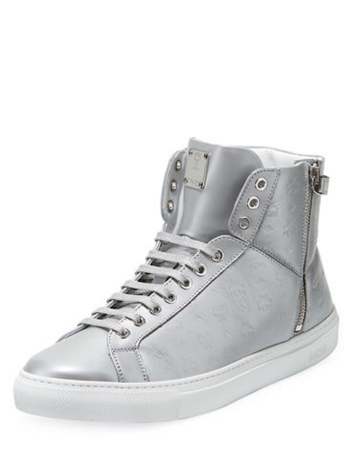 MCM Shoes - Visetos High Top - Silver