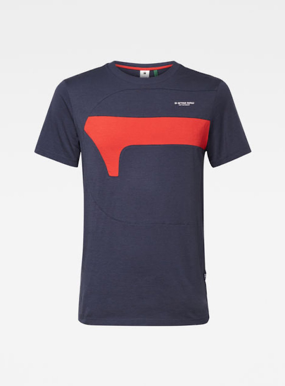 G-Star T-Shirt - Cut And Sewn - Navy And Red - D17123-336