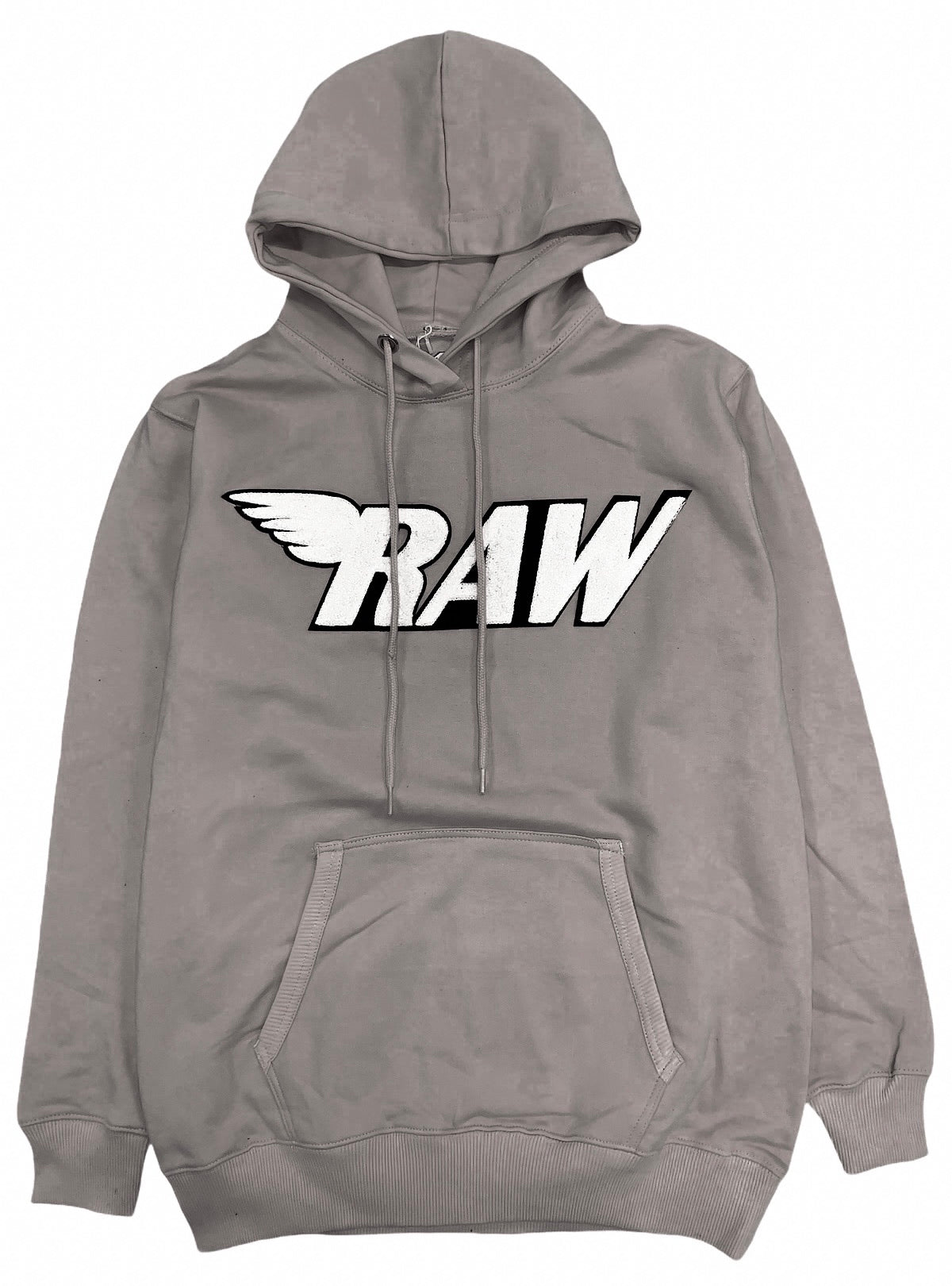Rawyalty Hoodie - Raw Stones  - Grey And White