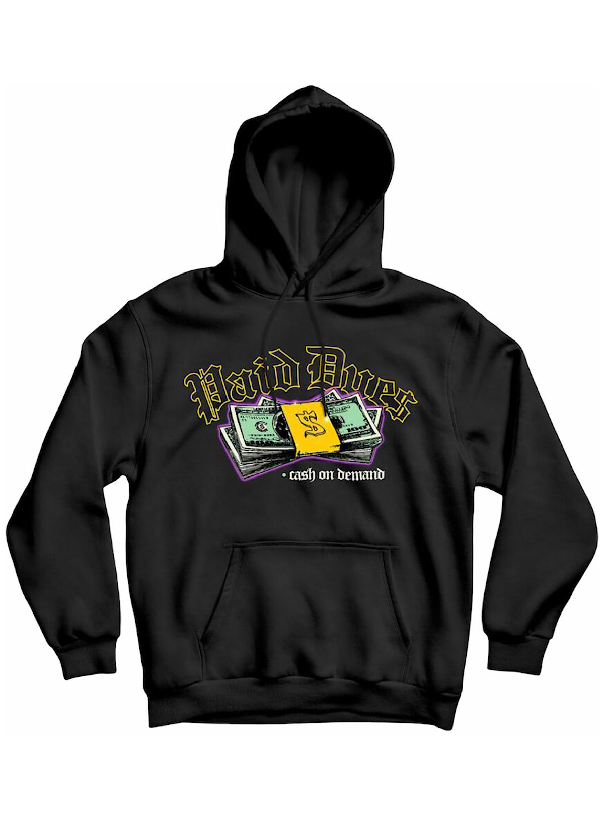 Paid Dues Hoodie - COD - Black And Purple - PD/C1-103