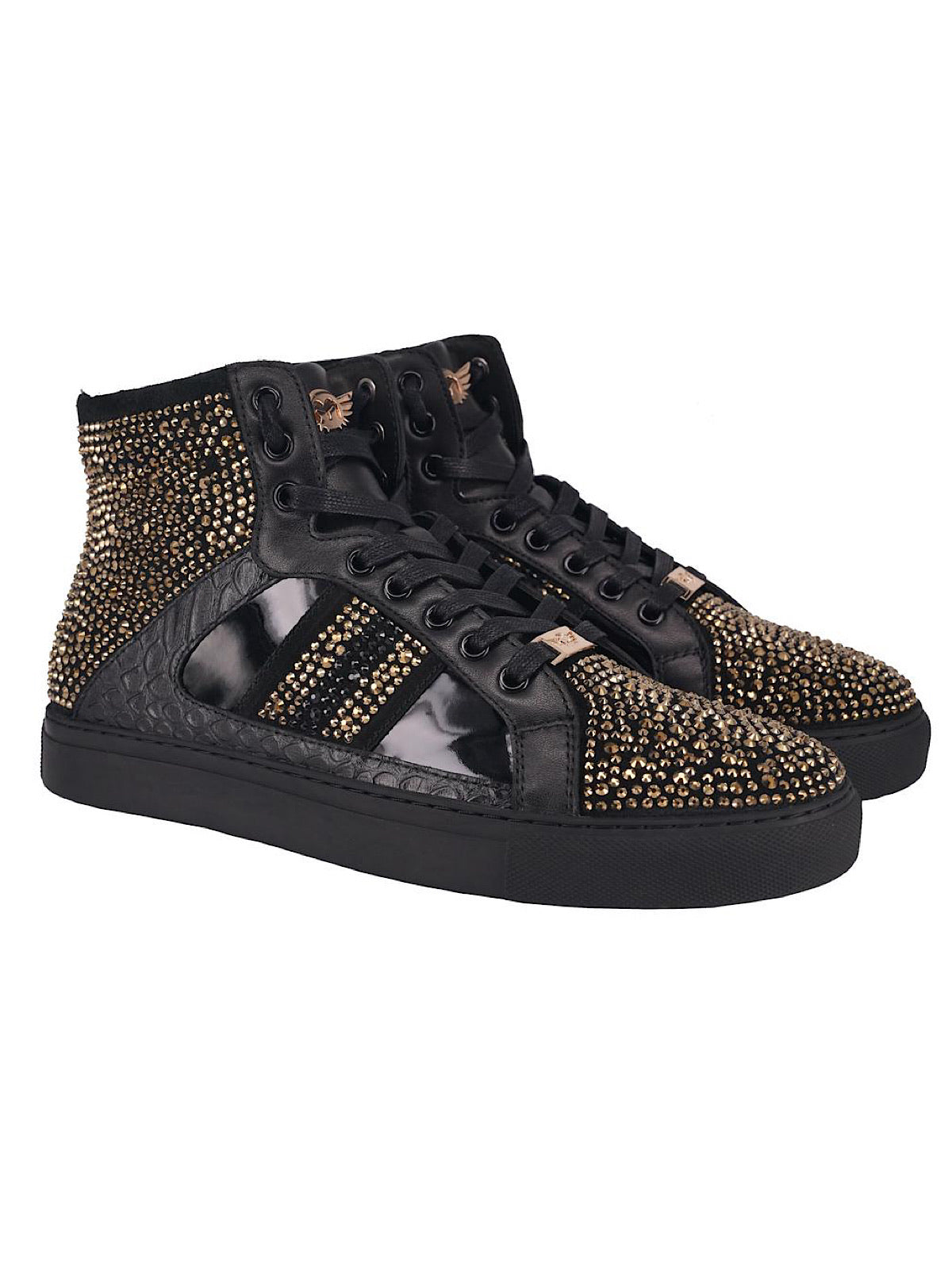 Ferrari Massari Shoes - The Earned Stripes Hustler - Black And Gold