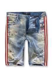 Jordan Craig Shorts - Summer Blue With Red And Cream Stripe - J3388S
