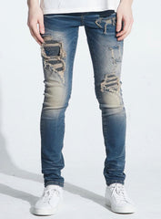 Embellish Jeans - Bower Rip & Repair - Indigo Cheetah - EMBFALL120-111