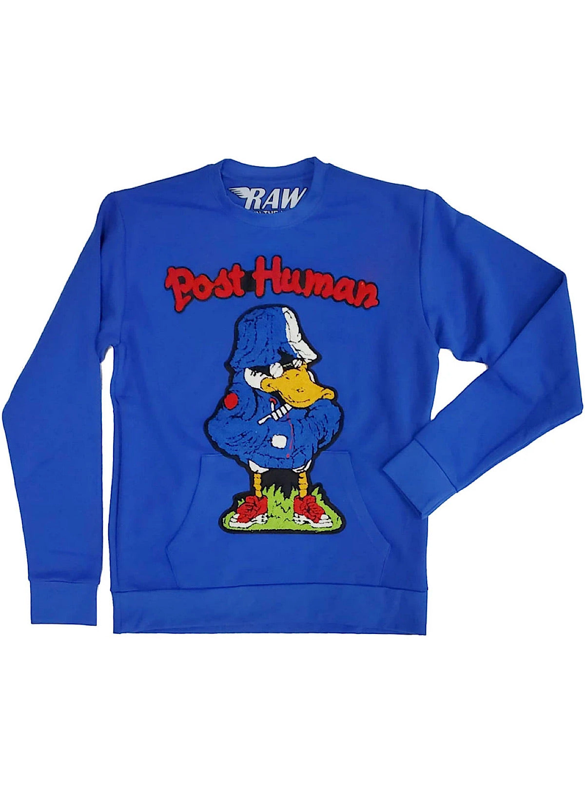 Rawyalty Sweater - Post Human - Royal