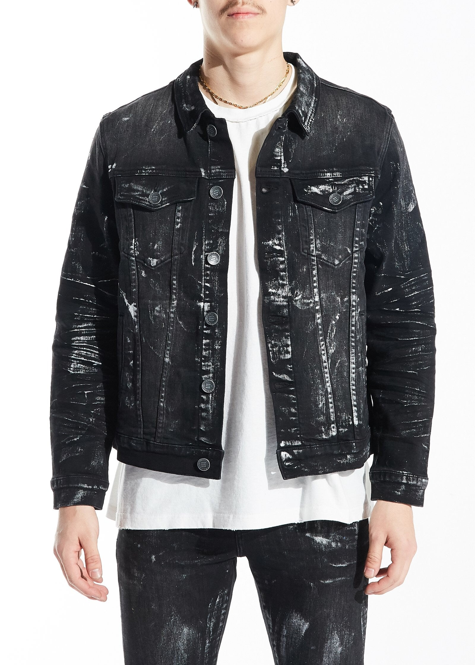 Embellish Jean Jacket Embh118-148 Blake Black
