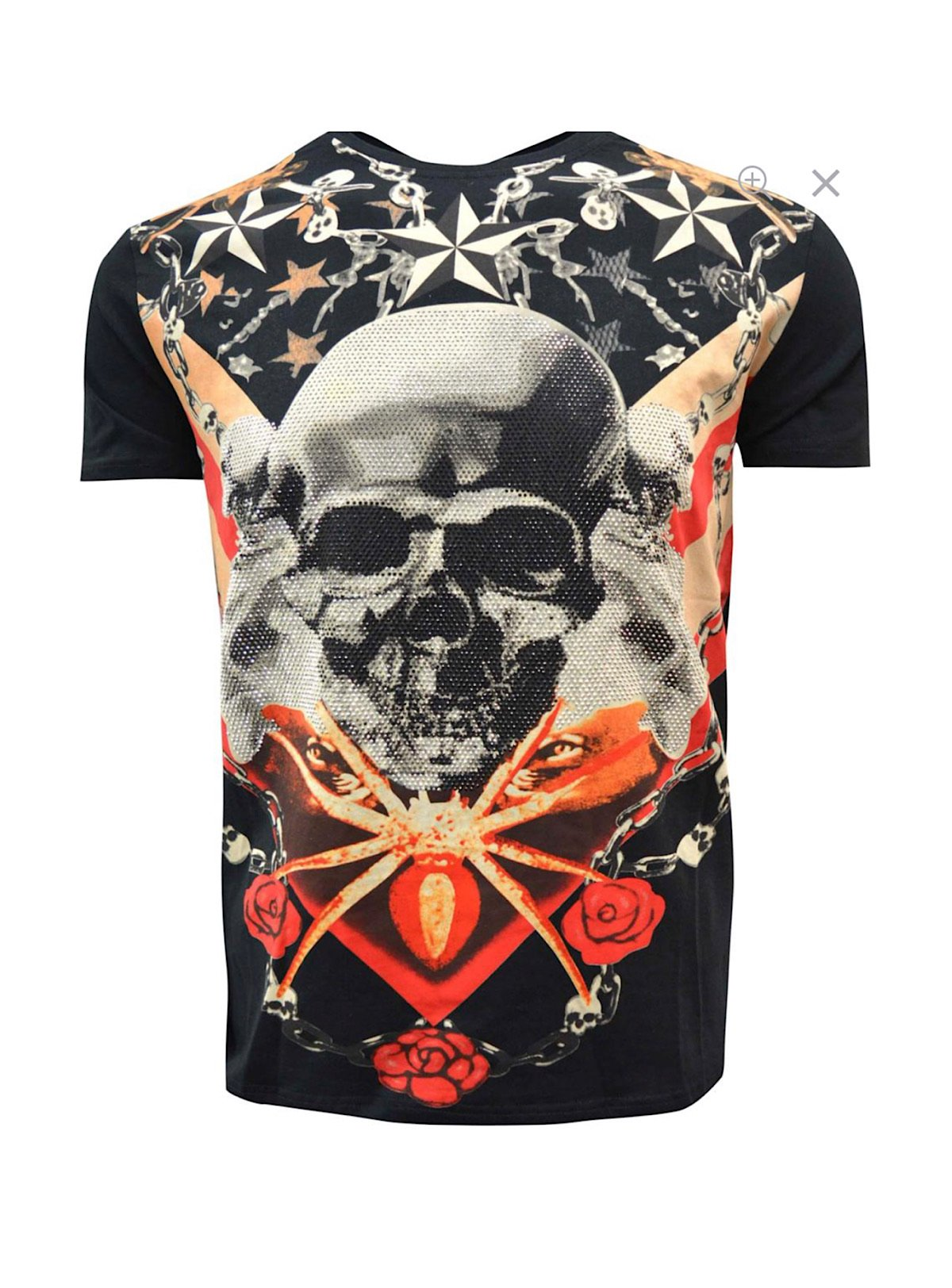 Heads Or Tails T-Shirt - American Skull - Black - 29130