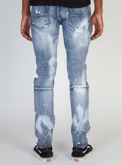 KDNK Jeans - Multi String Belt with White Splatter - Medium Blue - KND4290
