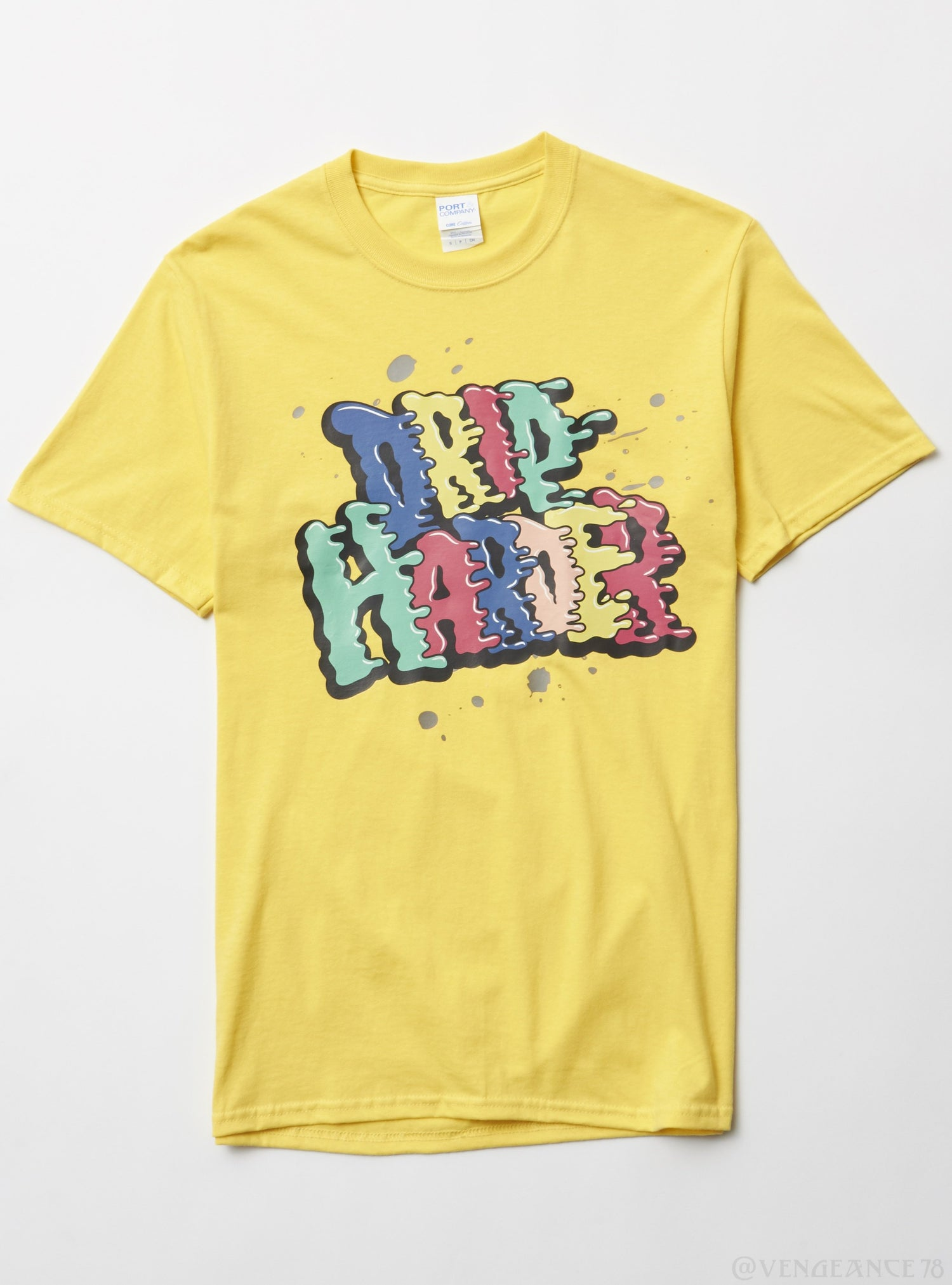 Port & Company T-Shirt - Drip Harder - Yellow