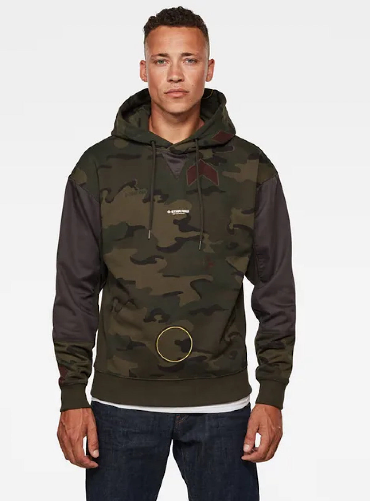 G-Star Hoodie - Moto Micro Camo - Forest Night Camo - D17680