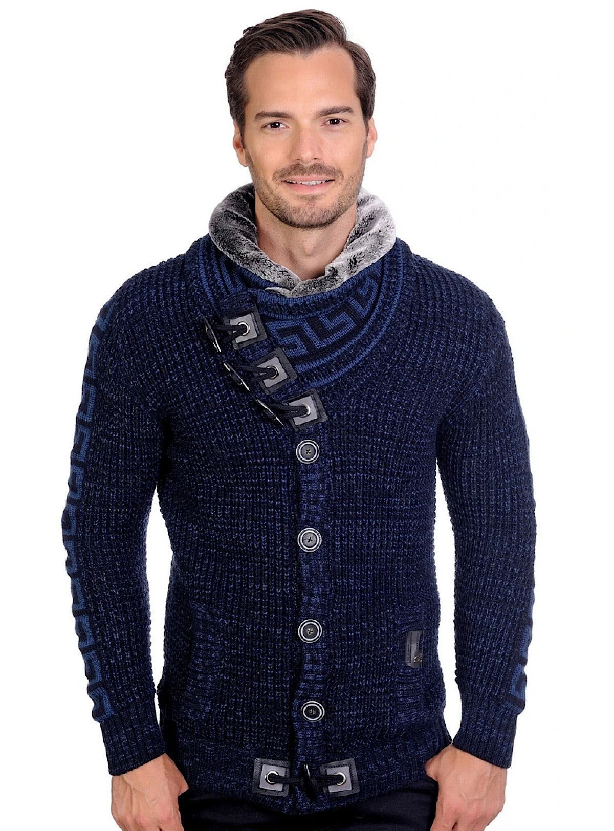 LCR Sweater - Slim Knit - Navy-Blue - 6430