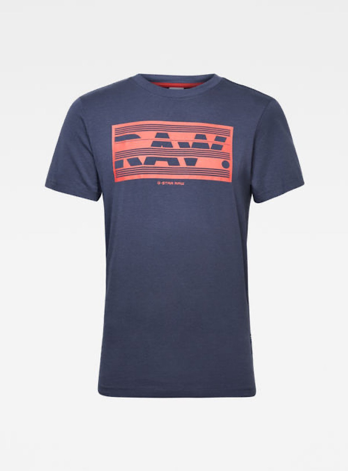 G-Star T-Shirt - Boxed Raw - Indigo And Red - D17106-336-857