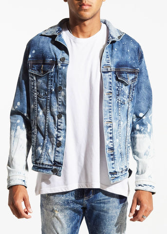 EMBELLISH JACKET EMBF218-103 CRUX blue paint