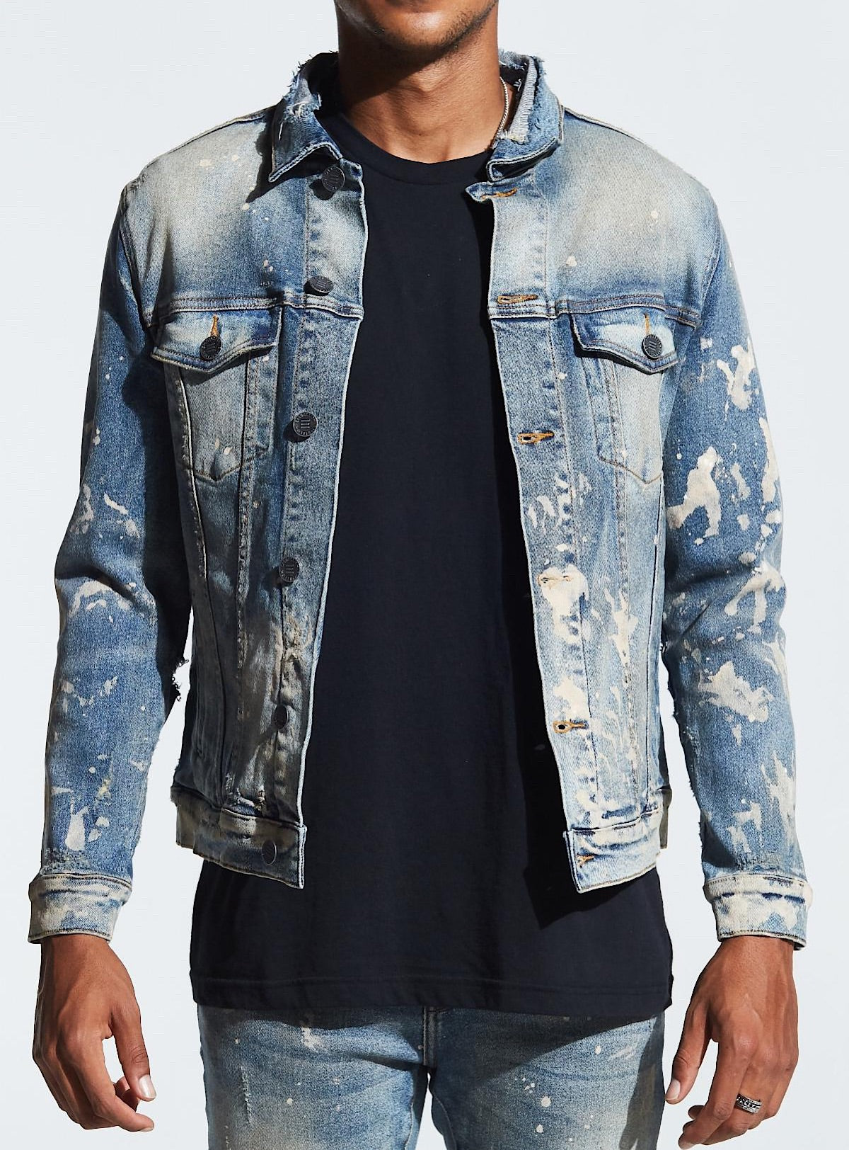 Embellish Denim Jacket Williamson Embsp119-209 Blue
