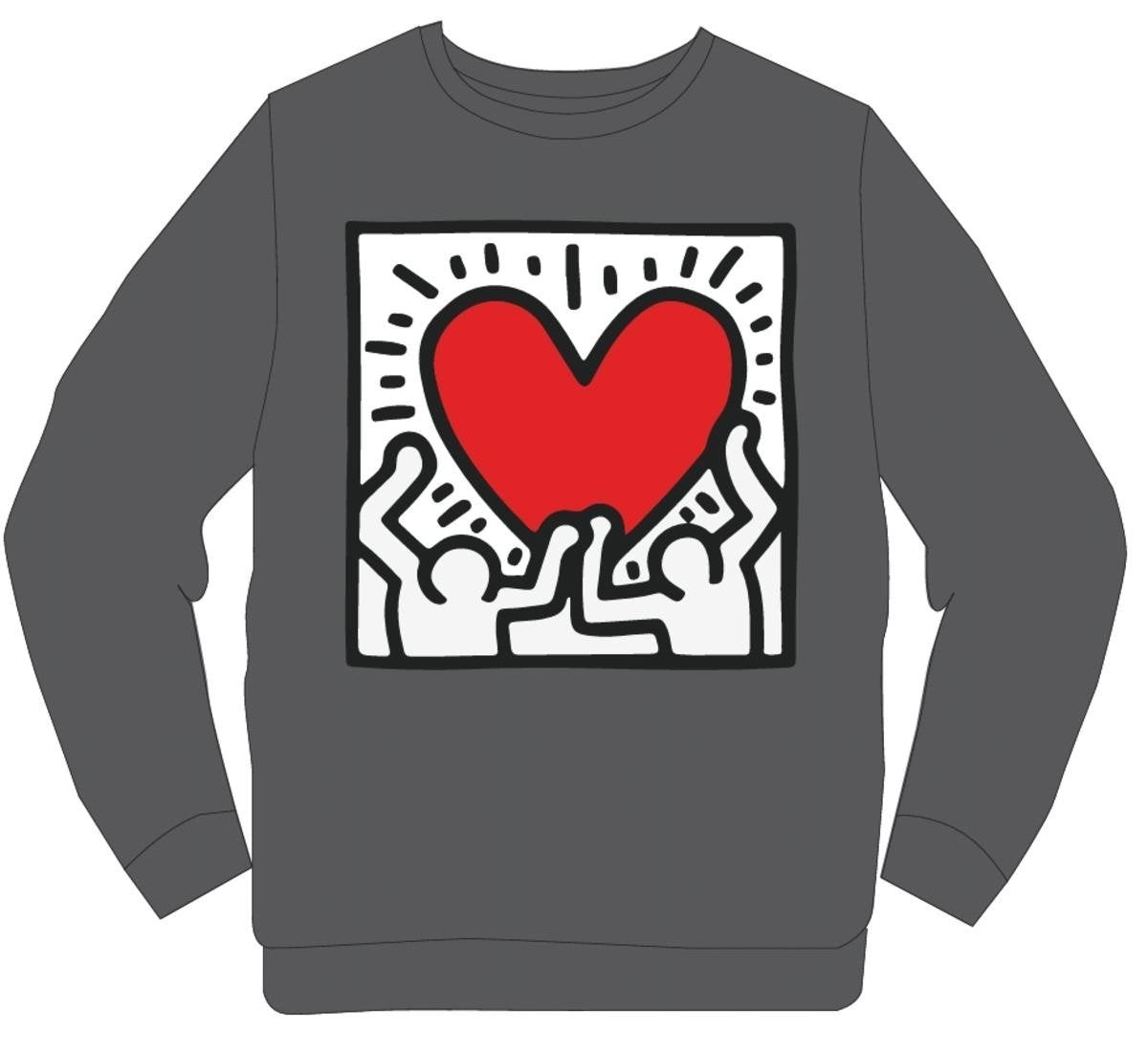 Retro Label Sweater - Keith - Grey