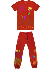 Cooper 9 Jogger Set - Flame On Drip - Red - 2010124