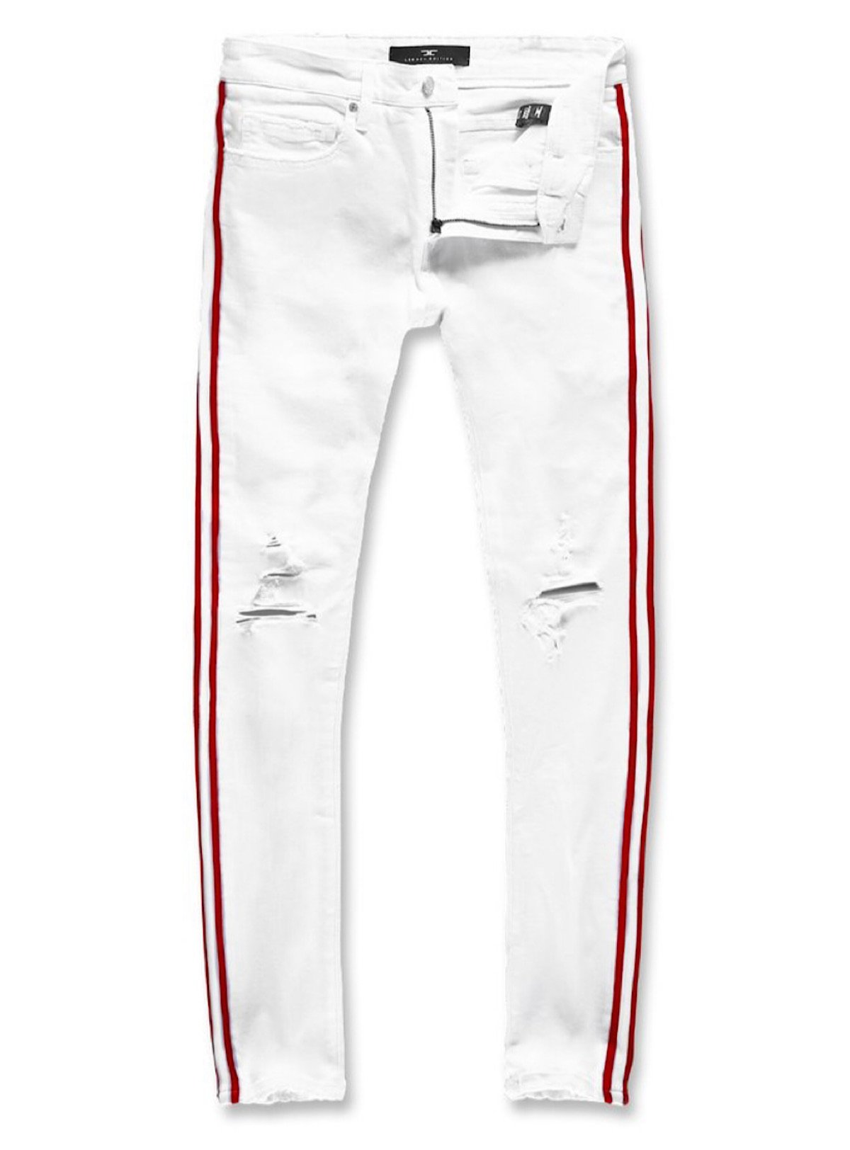 Jordan Craig Jeans - White And Red Stripe - JM3400A