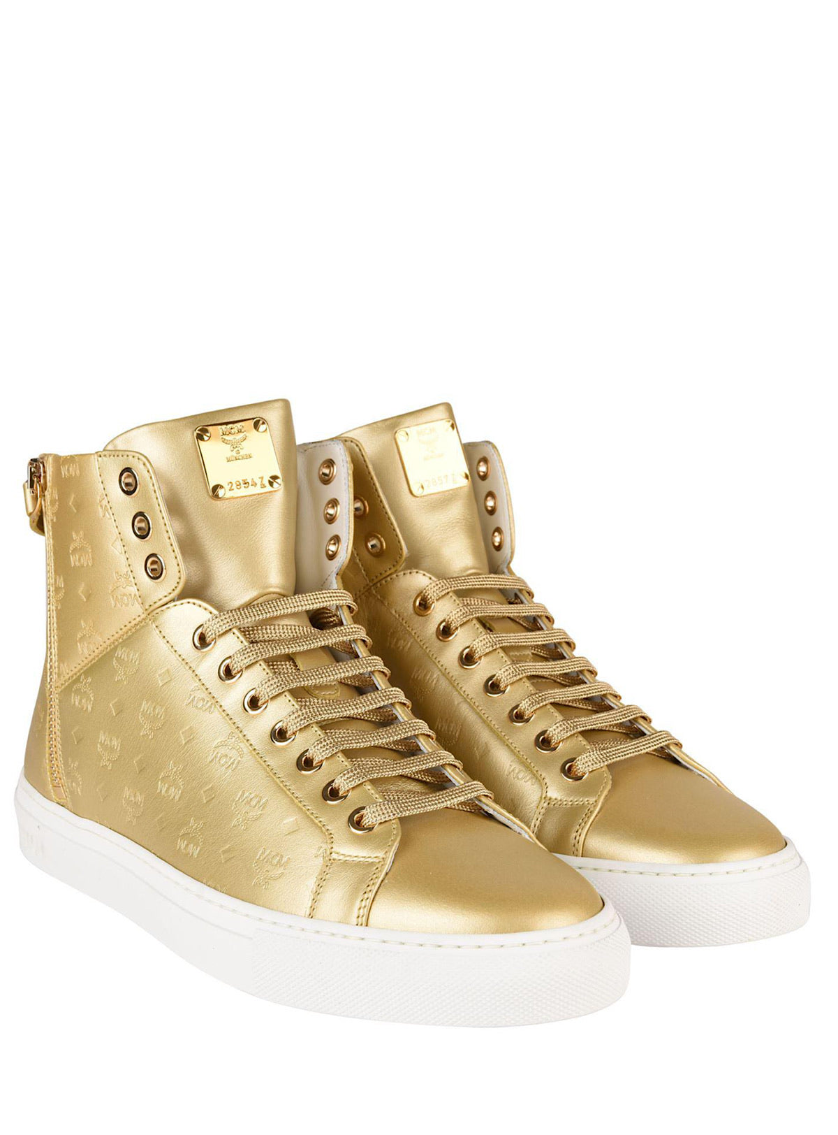 MCM Shoes - Visetos High Top - Gold