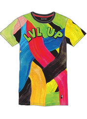 Makobi T-Shirt - Level Up - Black/Multi - M278