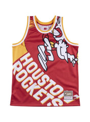 Mitchell & Ness Jersey - Houston Rockets Big Face - Red And Yellow