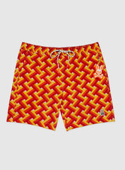 Psycho Bunny Shorts - Portsmouth Swim Trunks - Limoncello - SP20-B6W7171NC