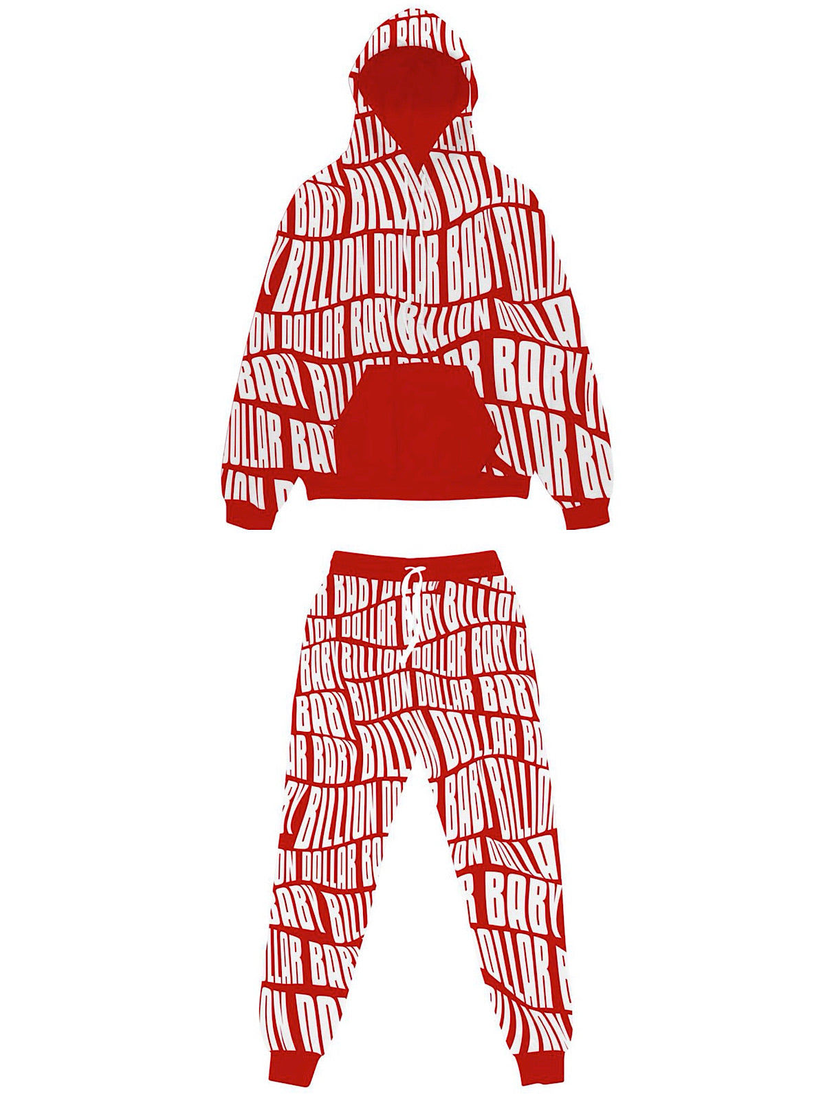Billion Dolla Baby Sweatsuit - AOP Print - Red