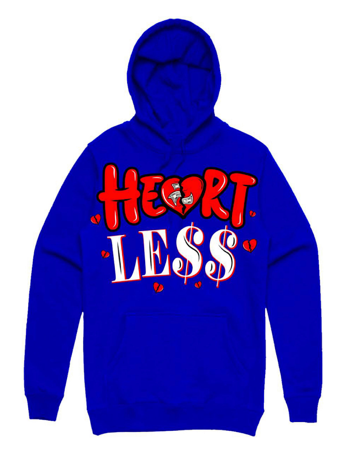 PG Apparel Hoodie - Heartless - Royal Blue