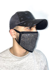 Politics Face Mask - Diamonds - Silver