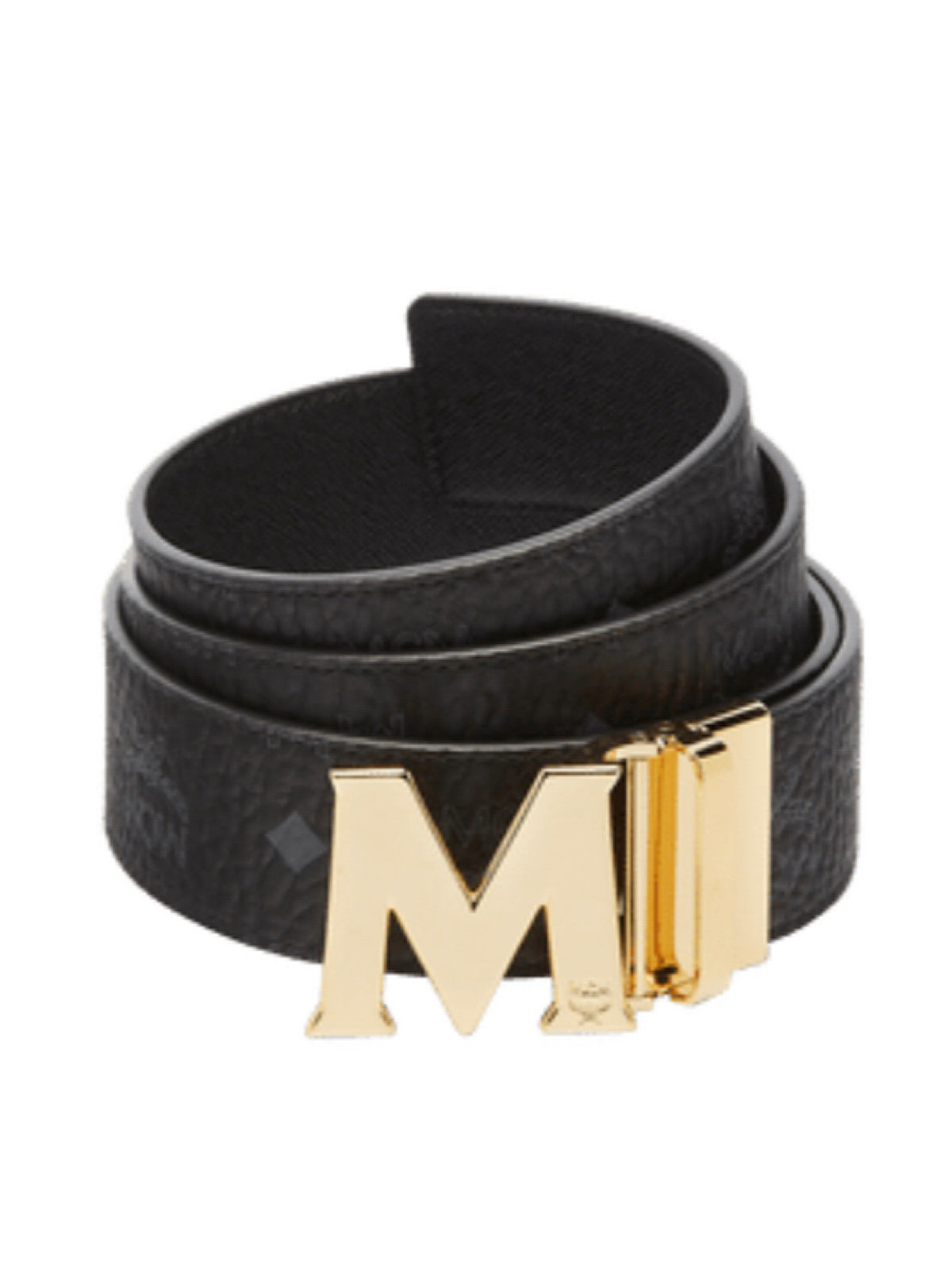 MCM Belt - Reversible - Black And Gold