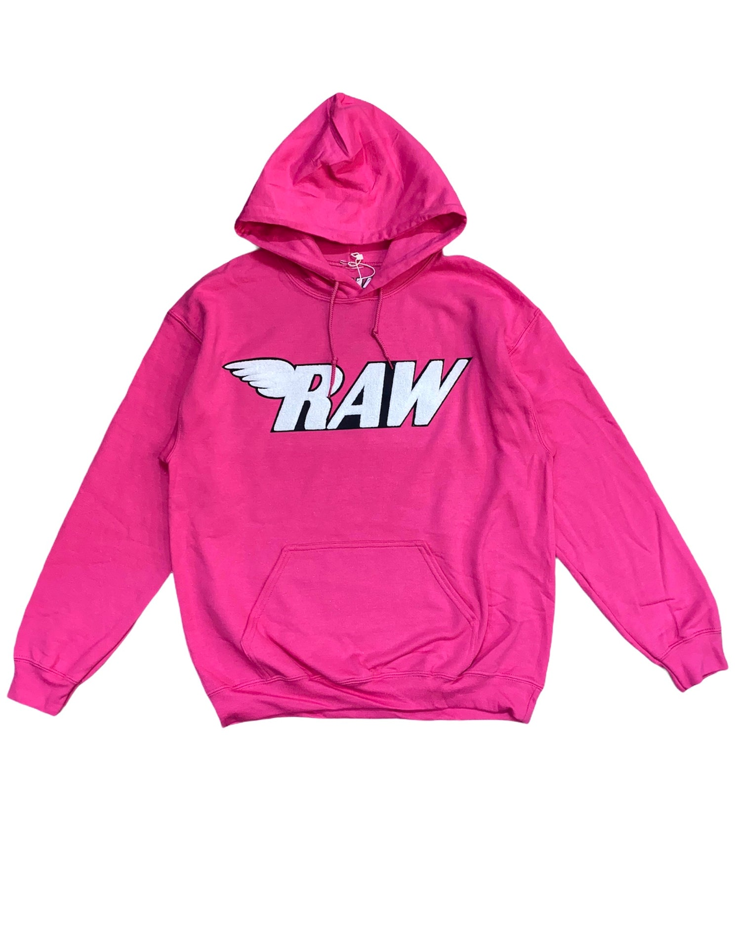 Rawyalty Hoodie - Raw - Pink And White