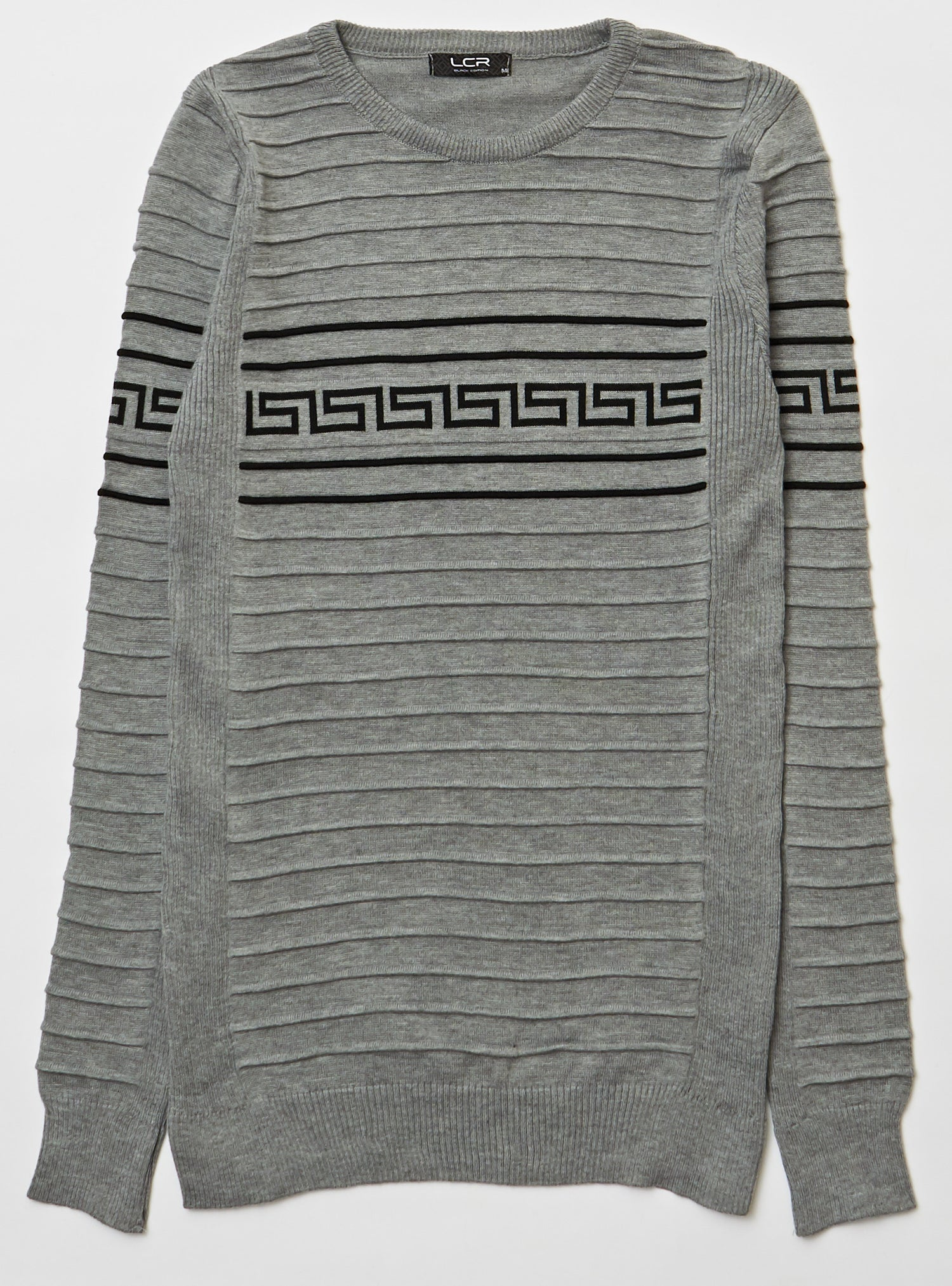 LCR - Crewneck Sweater - Grey And Black - 1950