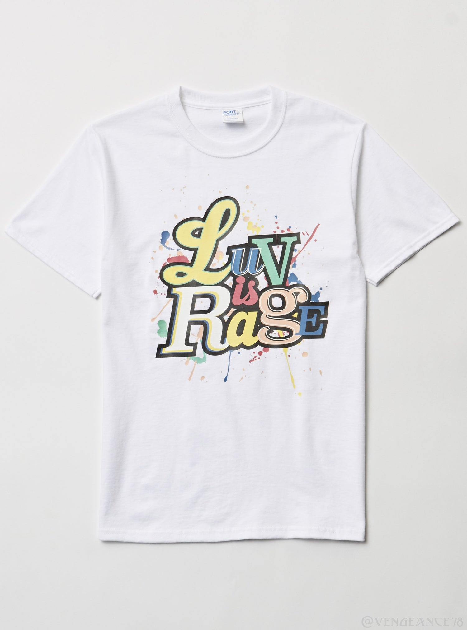 Port & Company T-Shirt - Love is Rage - White