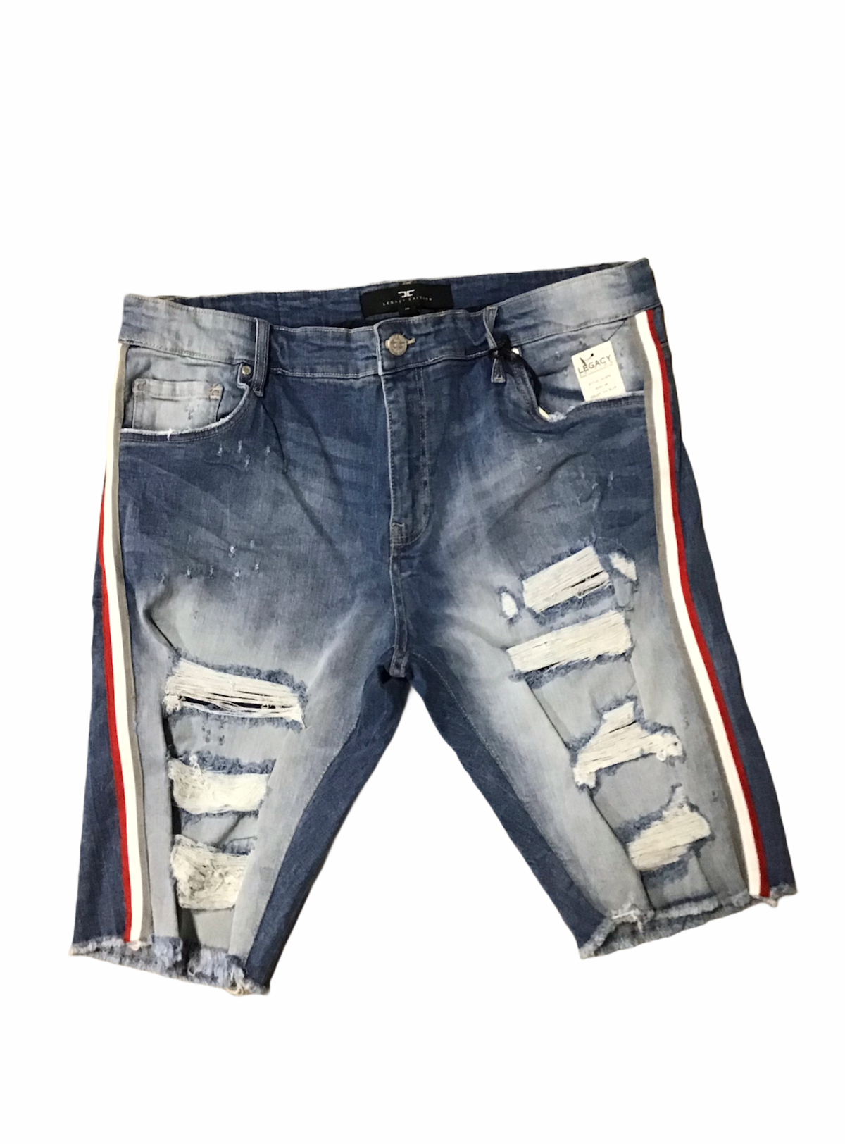 Jordan Craig Shorts - Ice Blue With Red And Grey - J3157S