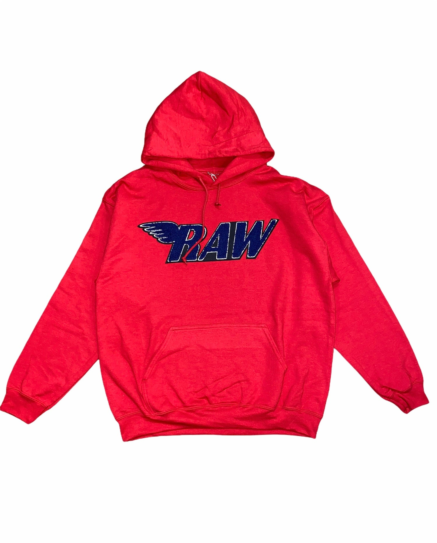 Rawyalty Hoodie - Raw - Red And Navy