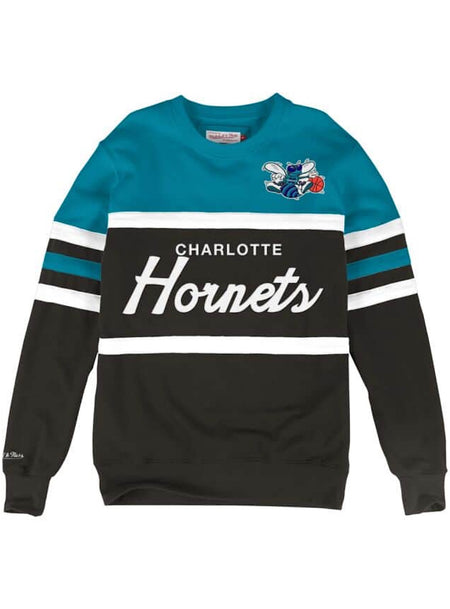 Mitchell & Ness Sweater - Head Coach Crew Hornets - Black And Teal