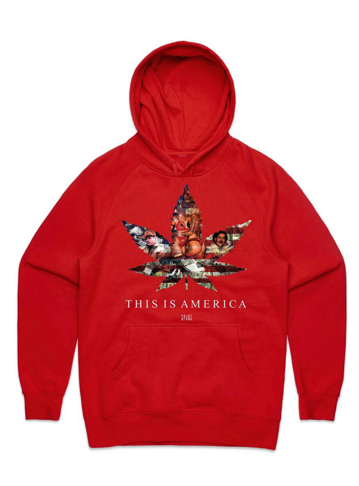 Point Blank Hoodie - This Is America - Red - 100987-1312