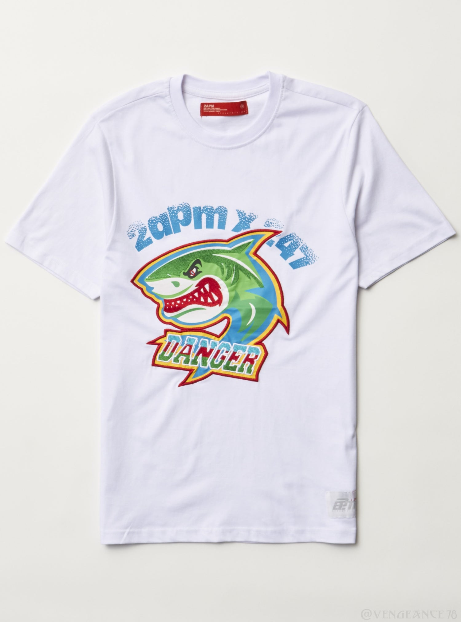 2APM T-Shirt - Shark Danger - White